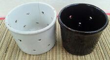 Lot de deux pots a faisselle,terre vernissé, art pop déco chalet, french antique
