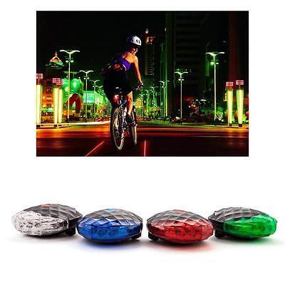 5X Bicycle Rear Safety Flashlight Taillight Warning Lamp 5 LED Rear Light GAC
