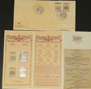 Folder Busta Bicentenario teatro Scala + lamina argento ed.numerata introvabile