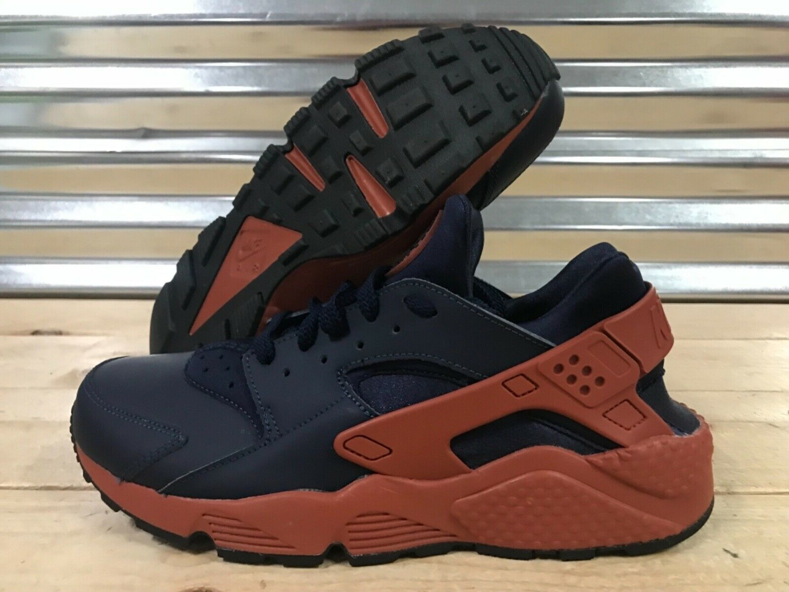 Nike Air Huarache Running shoes Mars Stone Obsidian Navy bluee SZ ( 318429-417 )