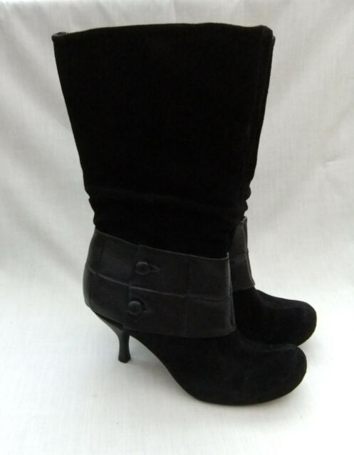 4ee18b45b3cd Clarks Handcrafted Lowrie Asha Womens Black Suede   Leather BOOTS UK ...