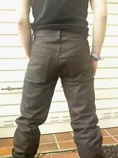 KNACKENGE GAY'le Nubuk Lederjeans W29 Lederhose Stiefelhose Bikerhose