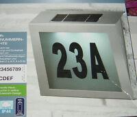 Solar Hausnummern Leuchte,led,edelstahl,neu