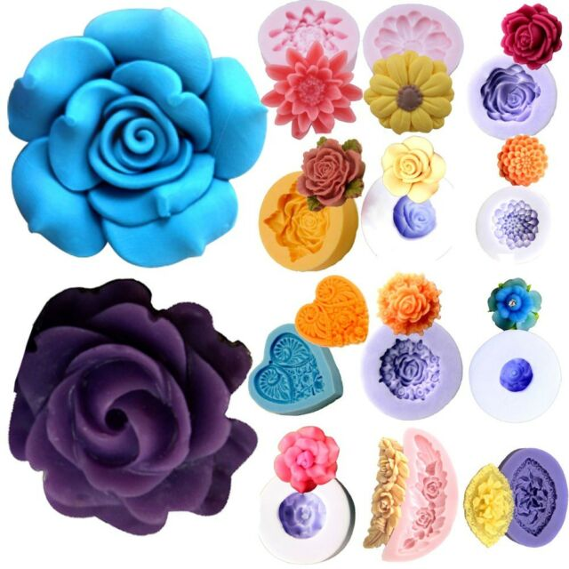 Flower Silicone Mold Clay Sugarcraft Chocolate Cake Decorating Fondant Mould