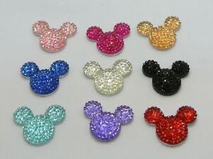20-Mixed-Color-Flatback-Rhinestone-Mouse-Gem-Beads-24X20mm-Flat-back-Resin