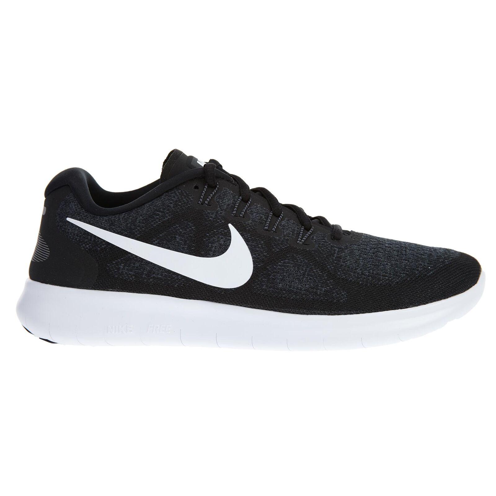 Nike Free RN 2017 Mens 880839-001 Black Grey Knit Mesh Running shoes Size 9
