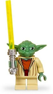 sw219-Lego-Star-Wars-8018-7964-Yoda-Minifigure-with-Lightsaber-New