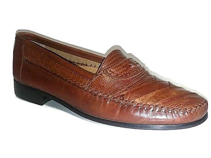 Giorgio Brutini Mens Leather Moc Toe Loafer shoes size 10 D