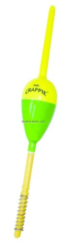 """New Mr Crappie Spring Thang Balsa Spring Oval Floats 3//4/"""" 18pk  583-SS-36YG"""