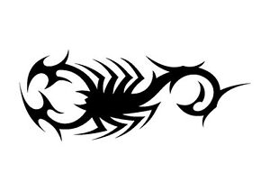 Tribal-Industrial-Scorpion-Stencil-350-micron-Mylar-not-thin-stuff-TaT0104