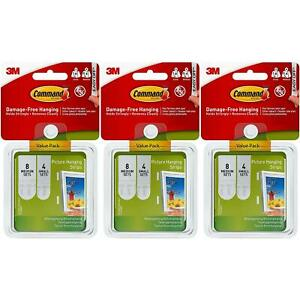 36-x-3M-Command-Picture-Hanging-White-Foam-Strips-Damage-Free-hanging-36-Sets