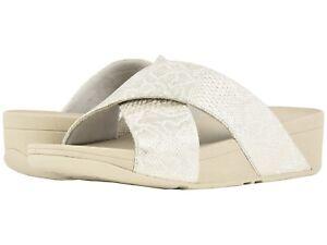 8339a78e8eda8 Women s Shoes Fitflop Lulu Python Criss Cross Slide Sandals M79-194 ...