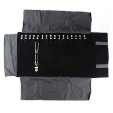 Portable Jewelry Roll Metal Corner Bag Necklace Chain Bracelet Velvet Fashion