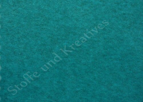 Polaire Grand chiné Hilco petrol uni 50 cm Haute Qualité peluche tissu tissu