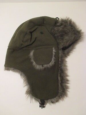 Mens TRUFIT Brown Green Camo Faux Fur EarFlap Bomber Trapper Aviator Winter Hat