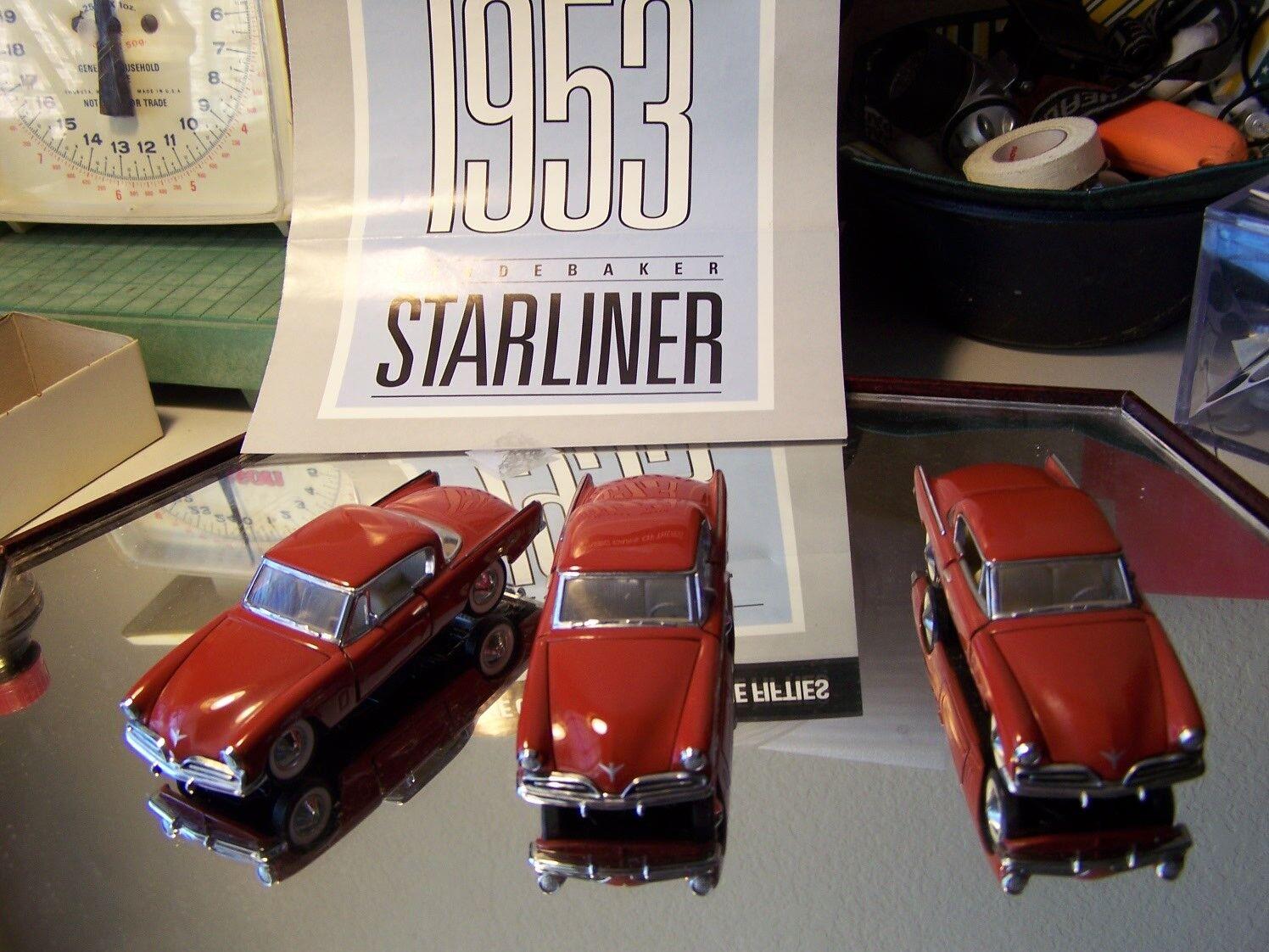 FRANKLIN MINT 1 43 RED 1953 STUDEBAKER STARLINER STARLINER STARLINER PAPERS & BOX 0caba1
