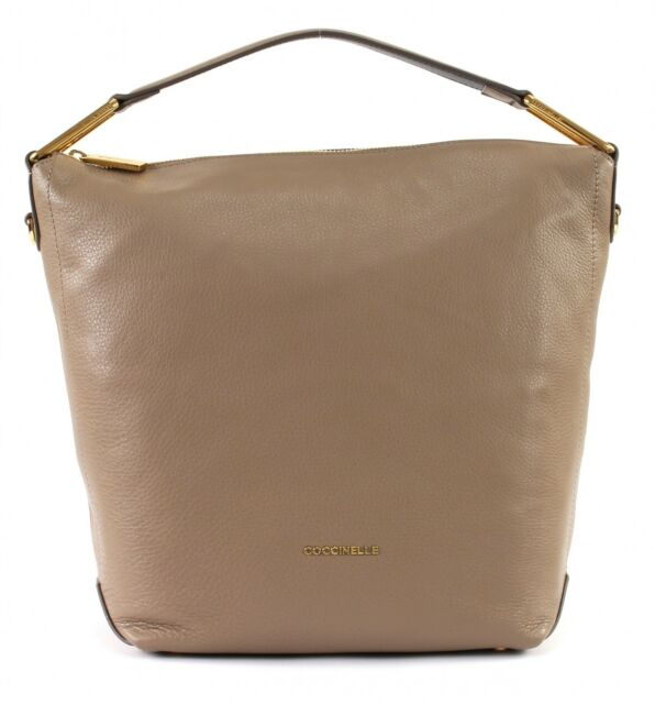 3a6bf9665311 Coccinelle Liya Small Hobo Bag Taupe   Noir for sale online