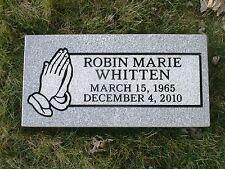 granite headstone grave marker gray multiple engraving options
