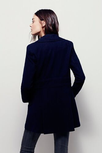 Jacket Peacoat People Navy Large Cotton Sz Miss Mod L Free New FwqPaa