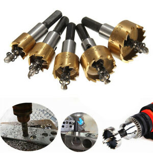 NEW-Drillpro-5pcs-HSS-6542-Titanium-Coated-Hole-Saw-Tooth-HSS-Hole-Saw-Cutter