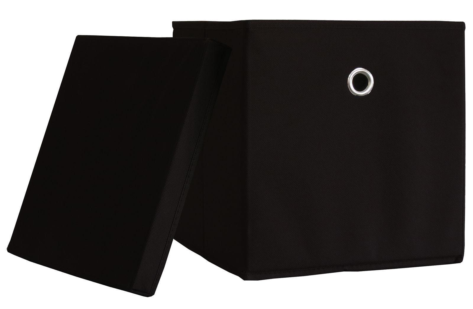 10er Set VCM Boxas schwarz Faltbox Klappbox Sammelbox Stoffbox Regalbox NEU