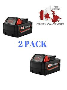 Powilling-2Pack-18V-5-0Ah-Replacement-M18-Battery-for-Milwaukee-Red-Lithium-XC
