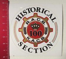 Aufkleber/Sticker: Historical Section - R.A.C.B. 100 K.A.C.B. (210316146)