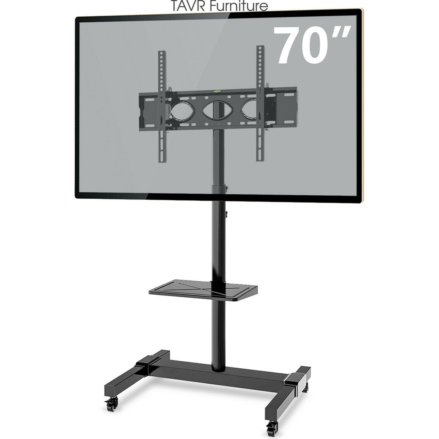 Tall Mobile Tv Stand Wheels Height Tiendamia Com
