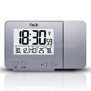 Multifunctional-LCD-Projection-Rotatable-Alarm-Clock-Date-Snooze-Function-X5Y9