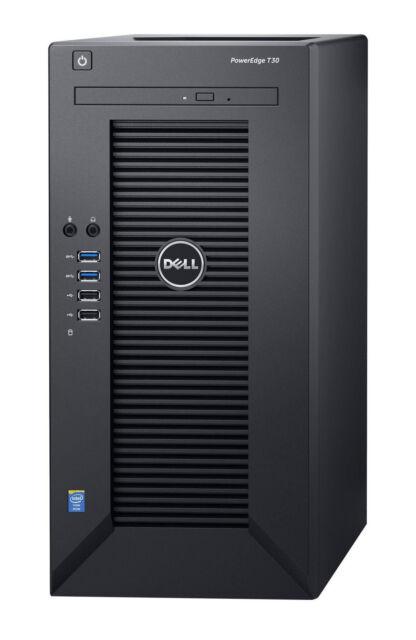 Dell PowerEdge T30 Tower Server Intel Xeon E3-1225 v5 1x8 GB UDIMM, 1x 1TB 7.2K