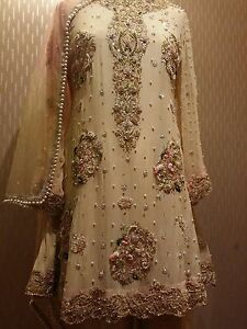 a6a28f2c49 Image is loading Asian-pakistani-hand-embroided-elan-wedding-party-wear-