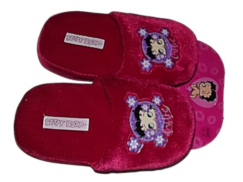 CUTE NEW OFFICIAL BETTY BOOP GIRLS LADIES PINK PLUSH SLIPPERS Sz 11//12 13//1 2//3