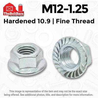 25 M8-1.25 Metric JIS Serrated Hex Flange Nuts Class 10 J.I.S B1190 12mm Hex