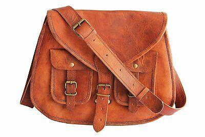Saddle Cross Body Bag Genuine Leather Shoulder Travel Crossbody Women/'s Handmade