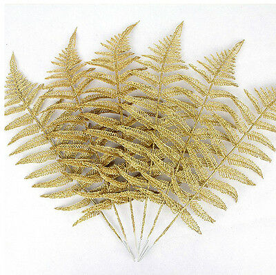 1Pcs New Luxury Christmas Tree Branch Leaf Gold Home Garden Pendant Decor Gifts