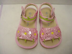 Multi Colored  Sandals! New  Girls  SQUEAKY Shoes Toddler SIZES 4-8