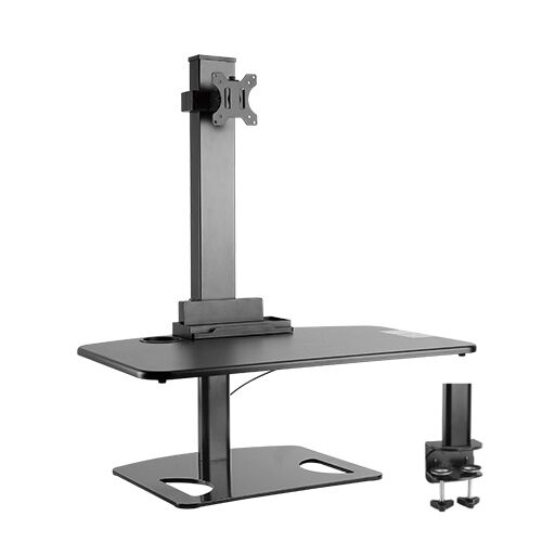 Premium Sit and Stand StationDesk w1Arm Computer Monitor Mount,BK 50% OFF!