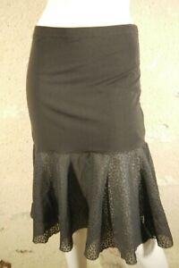 COP-COPINE-Taille-40-Superbe-jupe-jupon-marron-coton-melange-modele-FENOUIL