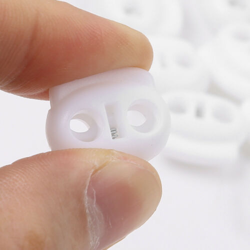 Double Holes Cord Locks Spring Loaded Drawstring Ends Toggle Stoppers Fastener