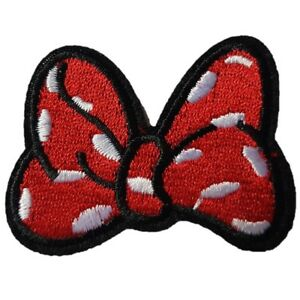 Minnie-Mouse-Bow-Embroidered-Iron-On-Sew-On-Patch-Dress-Bag-t-shirt-Jacket-Skirt