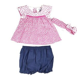 9566138dece77 Absorba Paris Floral Shirt Shorts Set Size 0-3 Months Baby Girl Pink ...