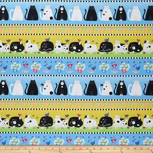Day Dreamers 100/% Cotton Fat Quarters or Metre Henry Glass Cats