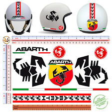 adesivi casco bandiera ita abarth sticker helmet scorpion italian flag tuning