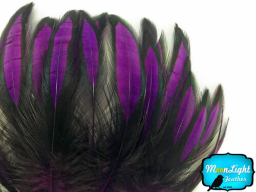 Purple BLW Whiting Laced Hen Cape Loose Feather Fly Tying Supply 1 Dozen