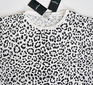 22e03ef2a2 $590 NWT SAINT LAURENT Paris Leopard Printed 100% Cotton T-Shirt Top ...