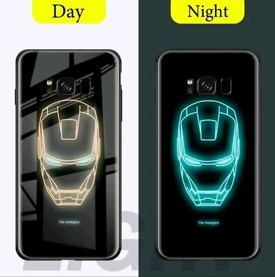 Cover iPhone X, XS MARVEL vetro fluorescente ,Iron man,Spiderman,Capitan America | eBay