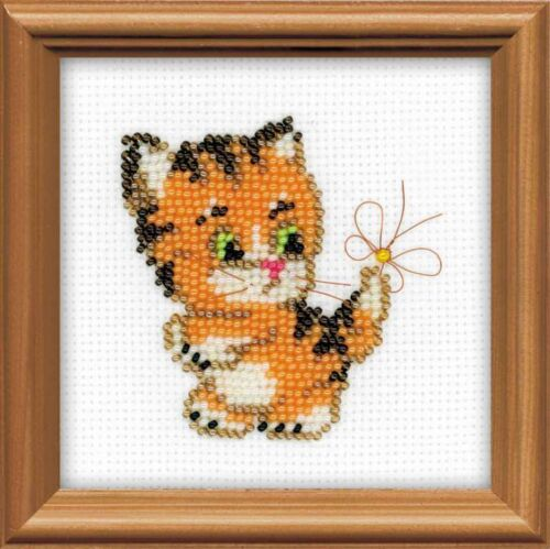 Riolis  1107  Chat  Ginger  Broderie  Perlée