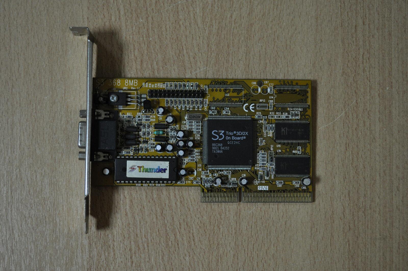 S3 Trio3D/2XQCE2HC 86C3689921 B4252 TAIWAN 4MB Thunder AGP Video Graphics Card