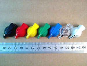 Chicken-Head-Pointer-Volume-Control-Knob-for-6-3mm-0-25-Shaft-Various-Colours