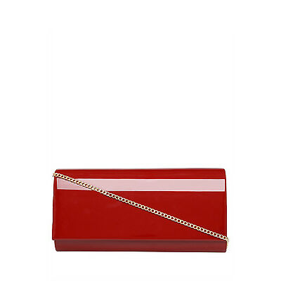 NEW Collection GH16-1174-1 Patent Flapover Clutch Red
